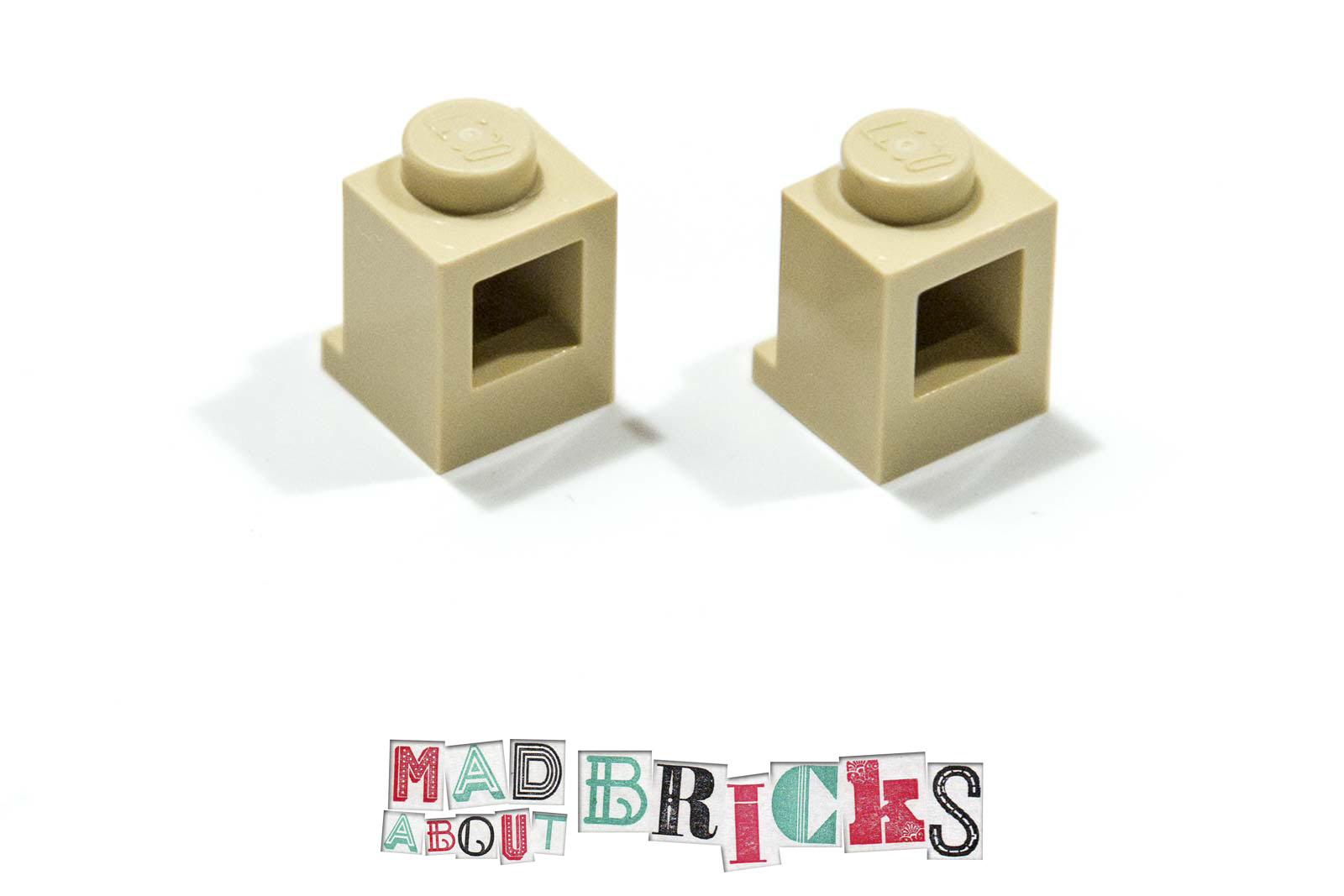 Pack of 2 New Lego 4070 1x1 Angular Brick 4118793