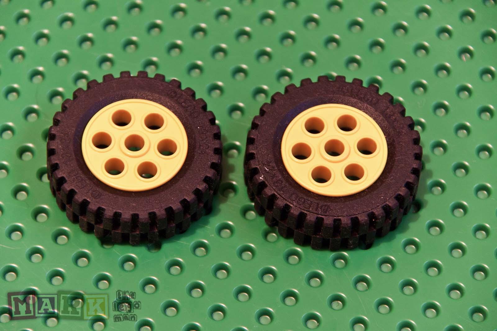 Set of Lego 2695 Yellow Rims Lego Tyres 13x24