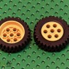 Set of Lego 2695 Yellow Rims Lego Tyres 13x24