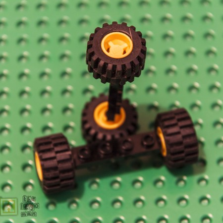 Lego Lot Pair Bearing Plate Wheel Tyre 2926, 6014, 60700