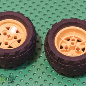 Large Lego Yellow Wheel Rim and Black Tyre 41896 41893