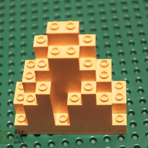 Lego Brick Spare Part 6083 Mountain Top 3x8x7 Yellow
