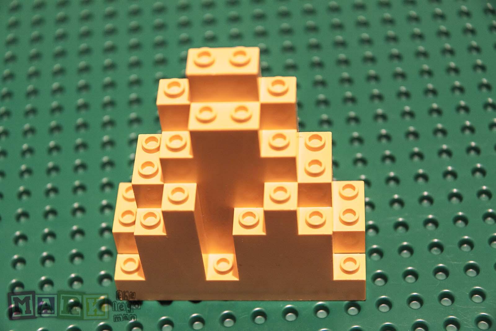 Lego Brick Spare Part 6083 Mountain Top 3x8x7 Yellow