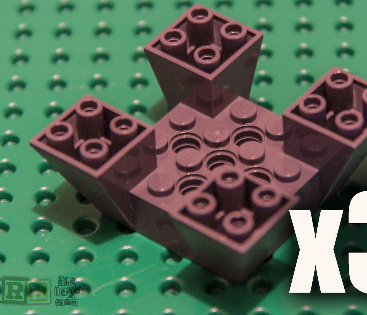 Lego 30373 Edged Brick Dark Grey