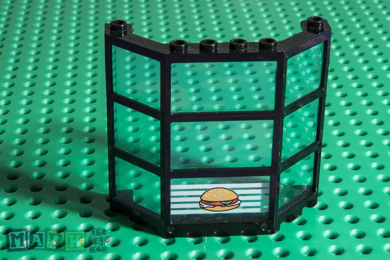Lego 30185c03px1 Window Bay 3x8x6 TrLtBlue Glass White Lines w Hamburger  Pattern