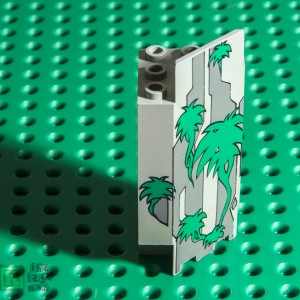 Lego 2345px4 Panel Wall 3x3x6 Corner with Vines Pattern
