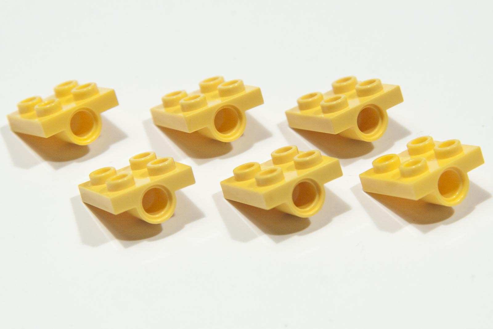 Lego Yellow 2444 Plate 2x2 with Hole