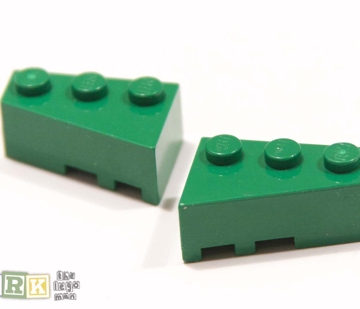 Lego Green Wedge Right 6564 Wedge Left 6565