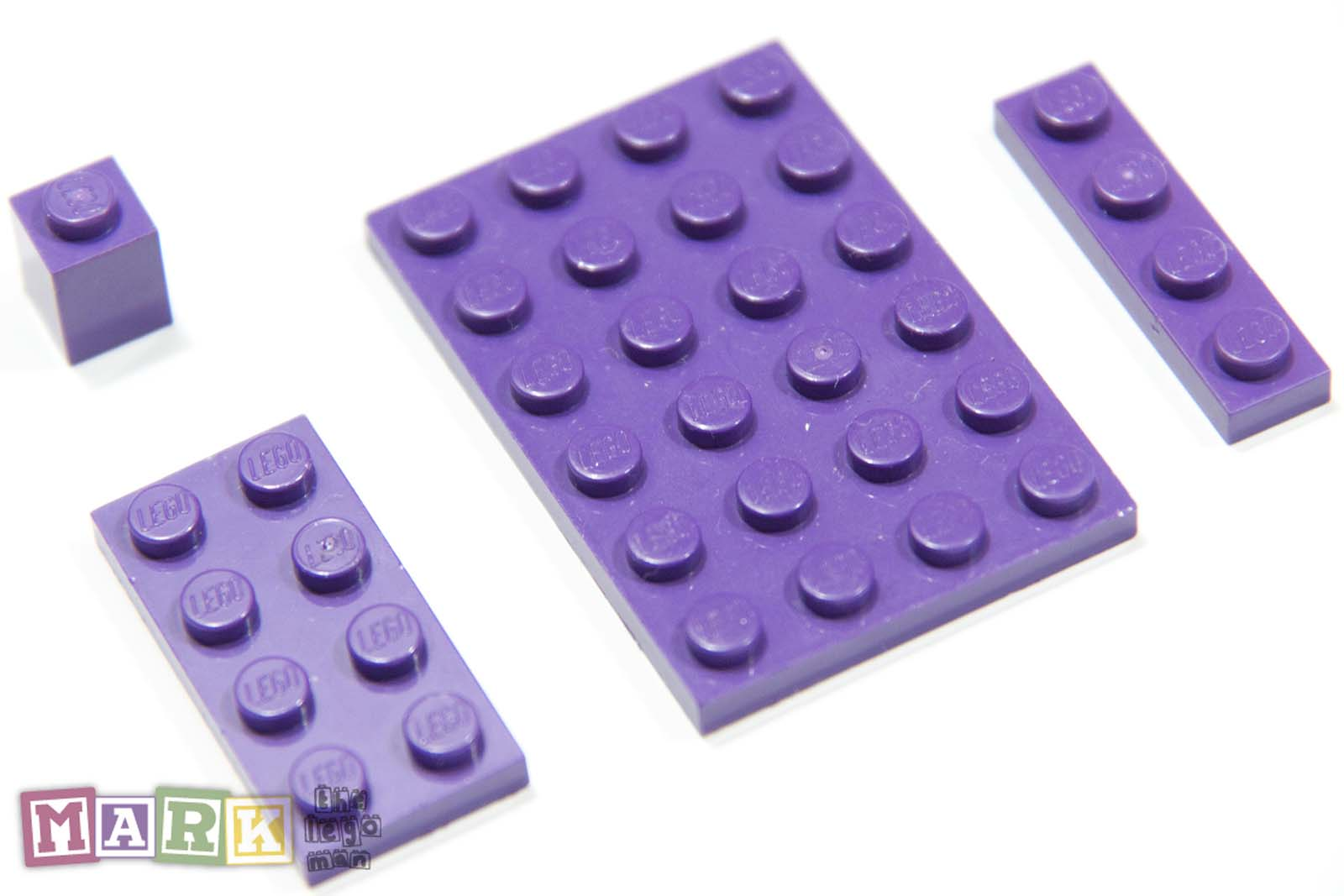 Lego Rare Purple Colour Plates Brick 3032 3020 3710 3005