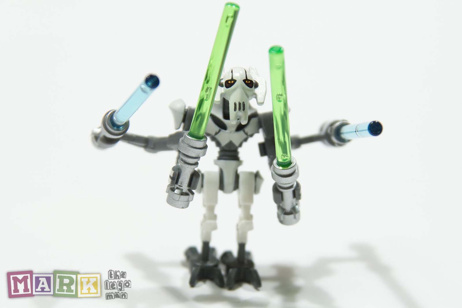NEW Star Wars Lego General Grievous Mini Figure Minifig with 4