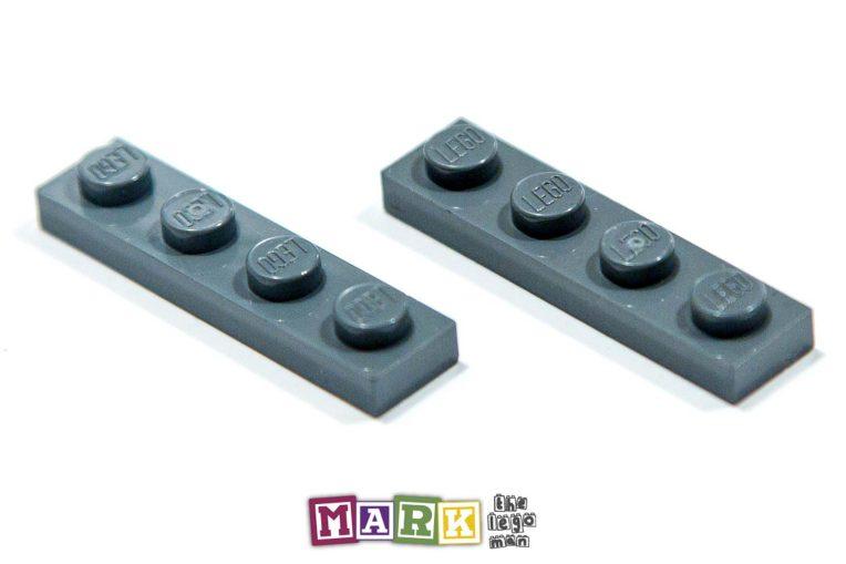Lego 4211001 3710 2x Dark Blueish Grey Dark Stone Dark Standard Grey 1x4 Plate