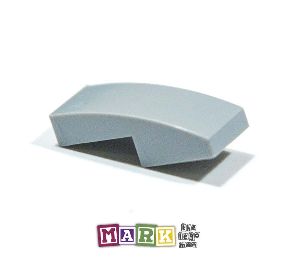 Lego 6028813 11477 1x Light Blueish Grey Md Stone Medium Standard Grey 1x2x2 3 Sloped Plate With Bow