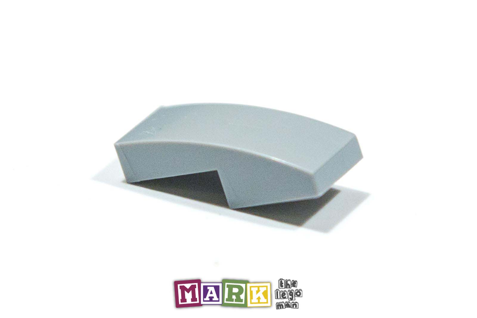 Lego 6028813 11477 1x Light Blueish Grey Md Stone Medium Standard Grey 1x2x2 3 Sloped Plate With Bow
