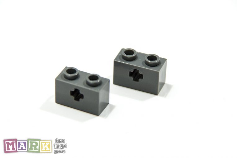 NEW Lego 32064 Dark Grey Brick 1x2 With Cross Hole 4210935