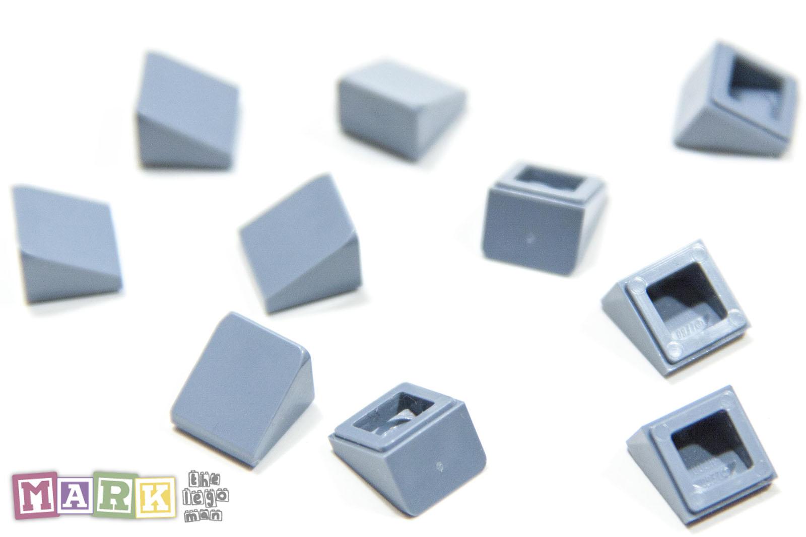 10 x LEGO 54200 Brique Toit Roof Tile Brick 1x1 Slope NEUF NEW rouge, red