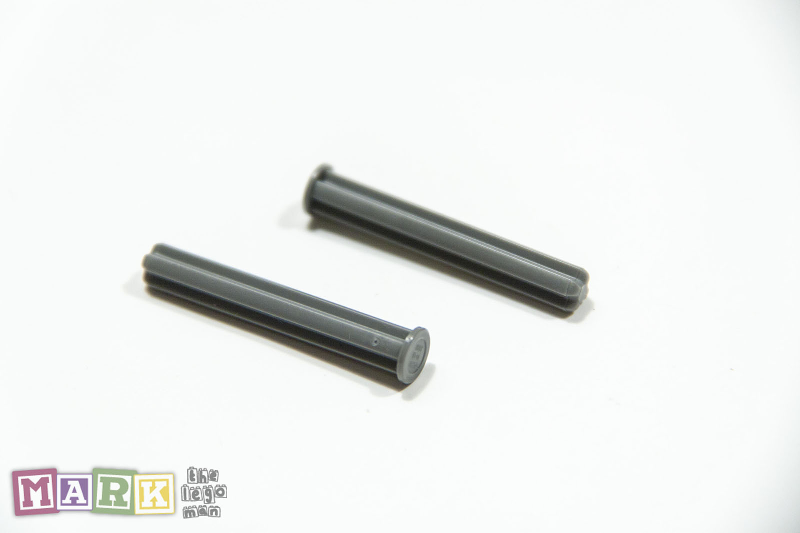 LEGO Cross Axle 4M with End Stop NEW 87083 Dark Stone Grey Pack of 2