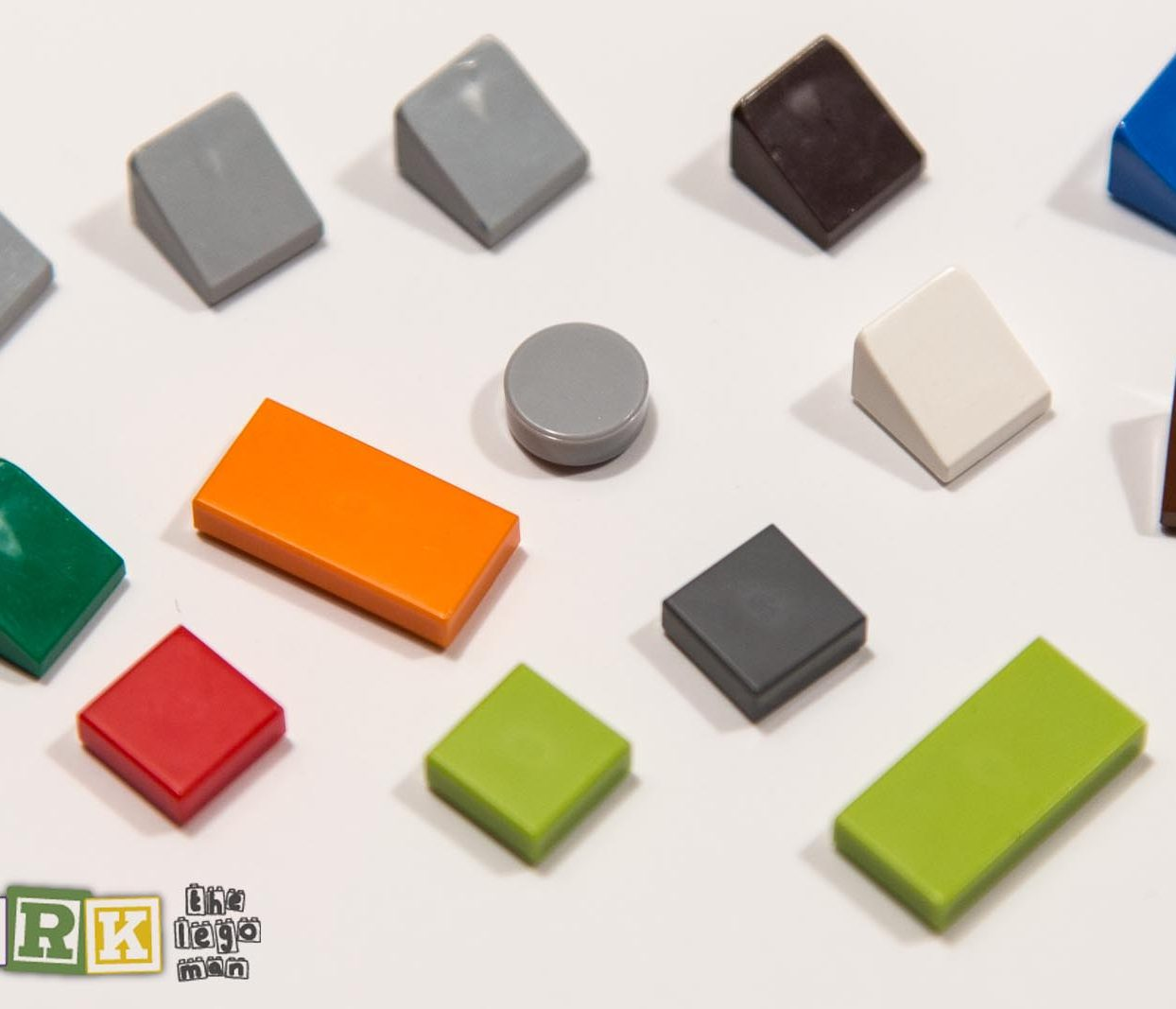 Lego Assorted Colour Flat Plates and 1x1 Slopes