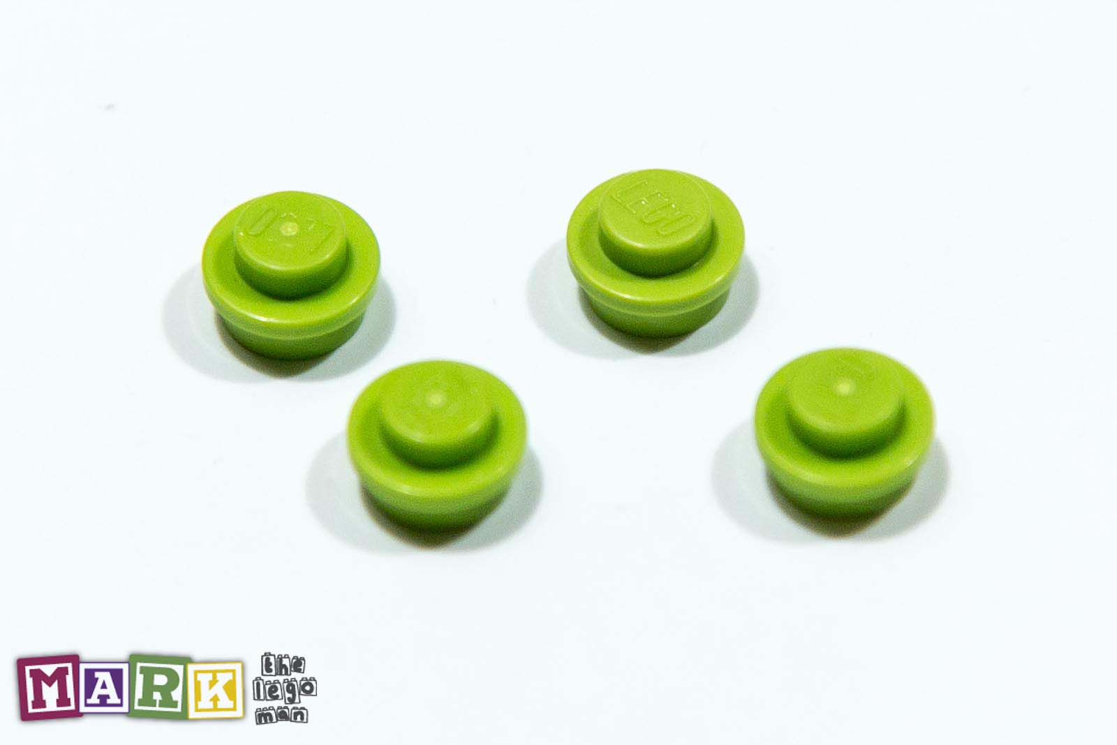 4183133 4073 Job Lot 4x Bright Yellow Green 1x1 RARE Plate Round