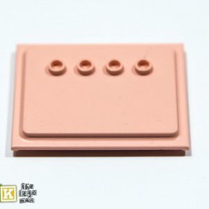 6836 Light Salmon 6x5 Scala Wall Panel with Four Studs