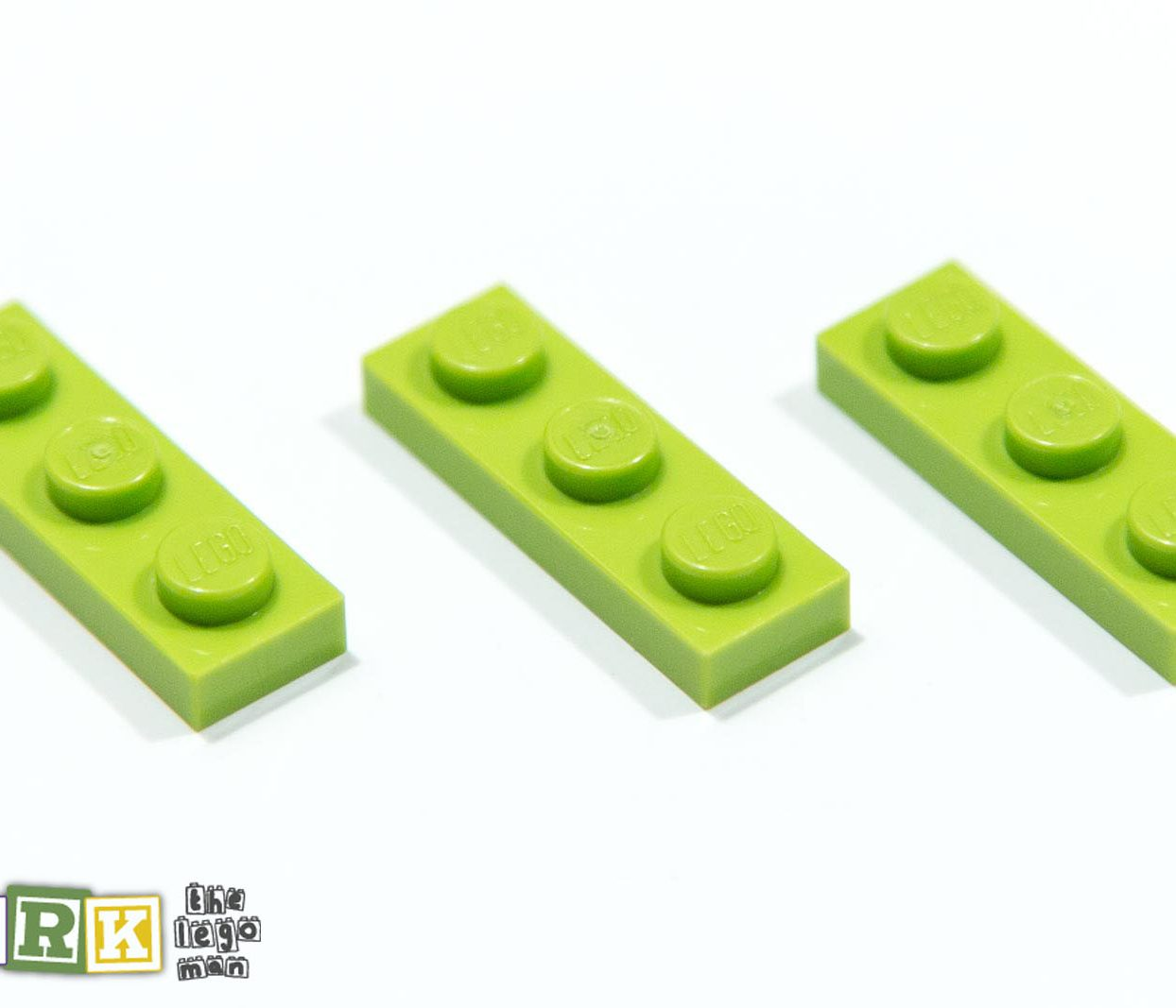 4210210 3623 Job Lot 3x Bright Yellow Green 1x3 Plate