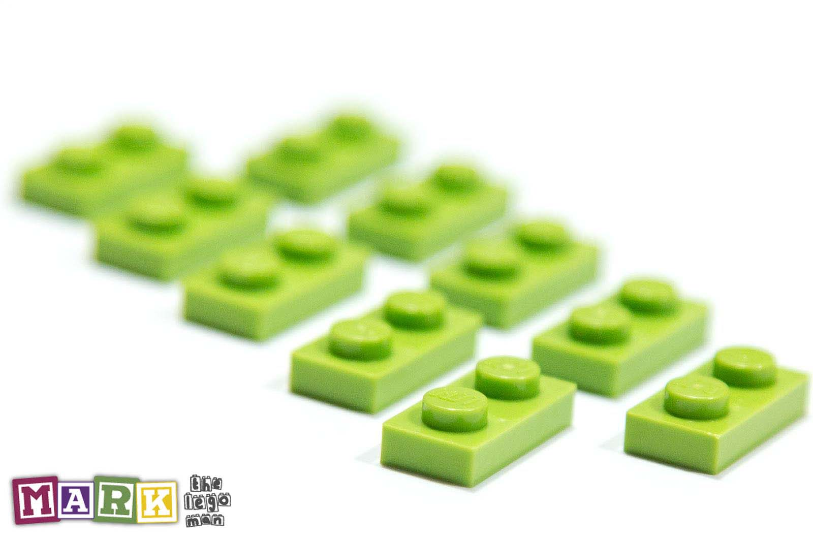 4164037 3023 Job Lot 10x Bright Yellow Green 1x2 Plate