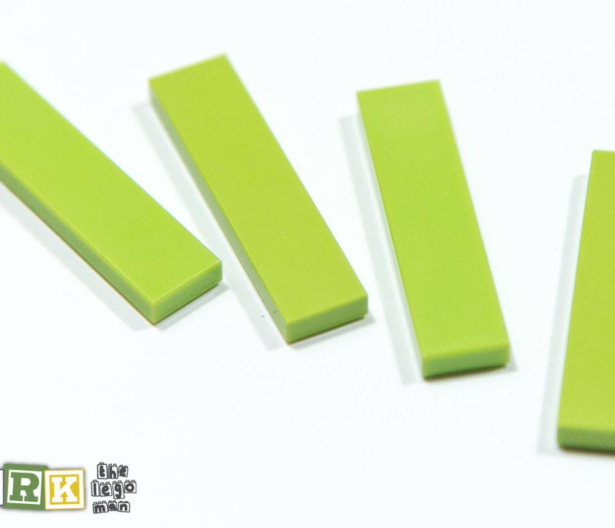 4164021 2431 Job Lot 4x Bright Yellow Green 1x4 Flat Tile
