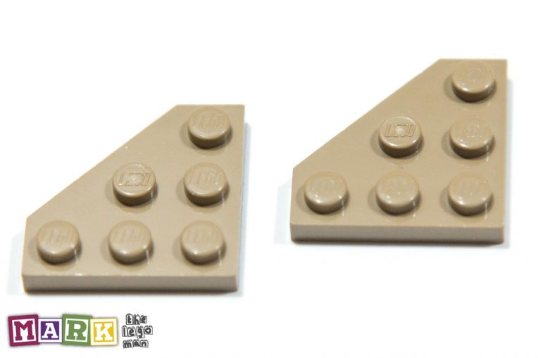 Lego 4505141 2450 2x Sand Yellow 3X3 Corner Plate 45 Degrees