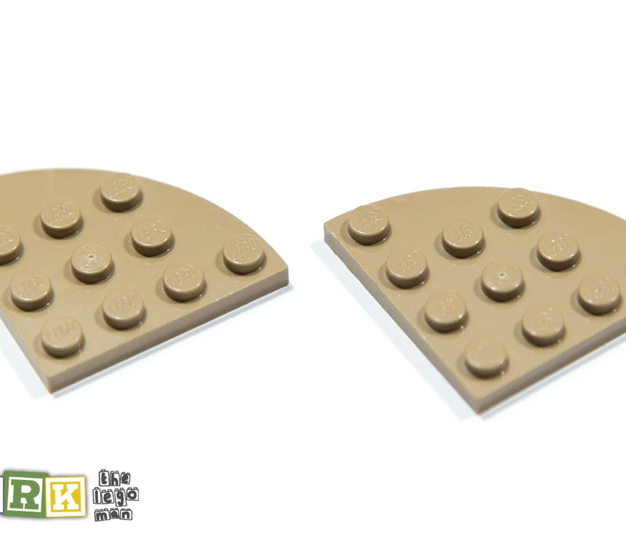 Lego 4505142 30565 2x Sand Yellow 4x4 Plate 1/4 Circle