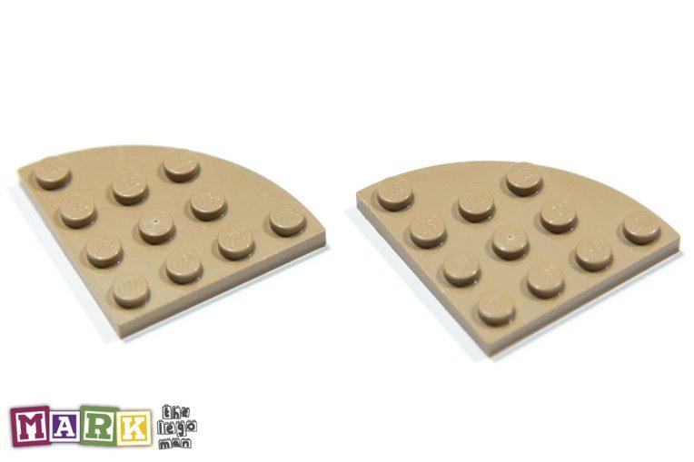 Lego 4505142 30565 2x Sand Yellow 4x4 Plate 1/4 Circle