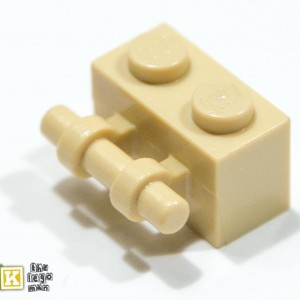 Lego 4288513 30236 Brick Yellow (Tan) 1x2 Brick With Stick Handle