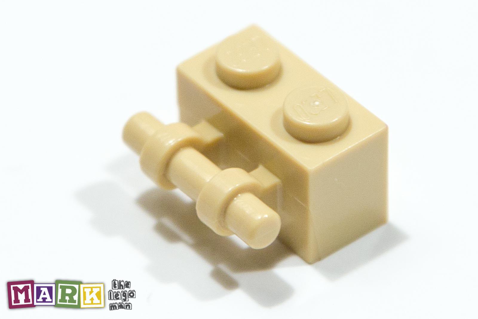 Lego 4288513 30236 Brick Yellow (Tan) 1x2 Brick With Stick Handle