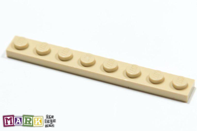 Lego 4114324 3460 Brick Yellow (Tan) 1x8 Plate