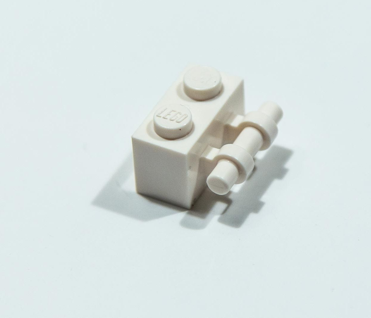 NEW Lego 4140626 30236 1x White 1x2 Brick With Stick