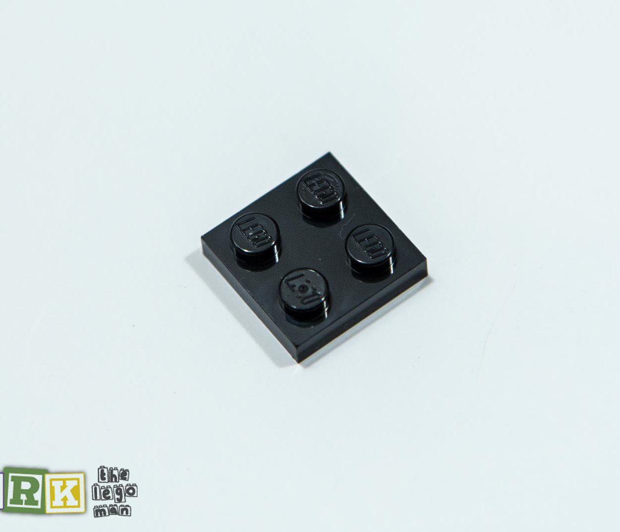 NEW Lego 302226 3022 1x Black 2x2 Plate 2X2