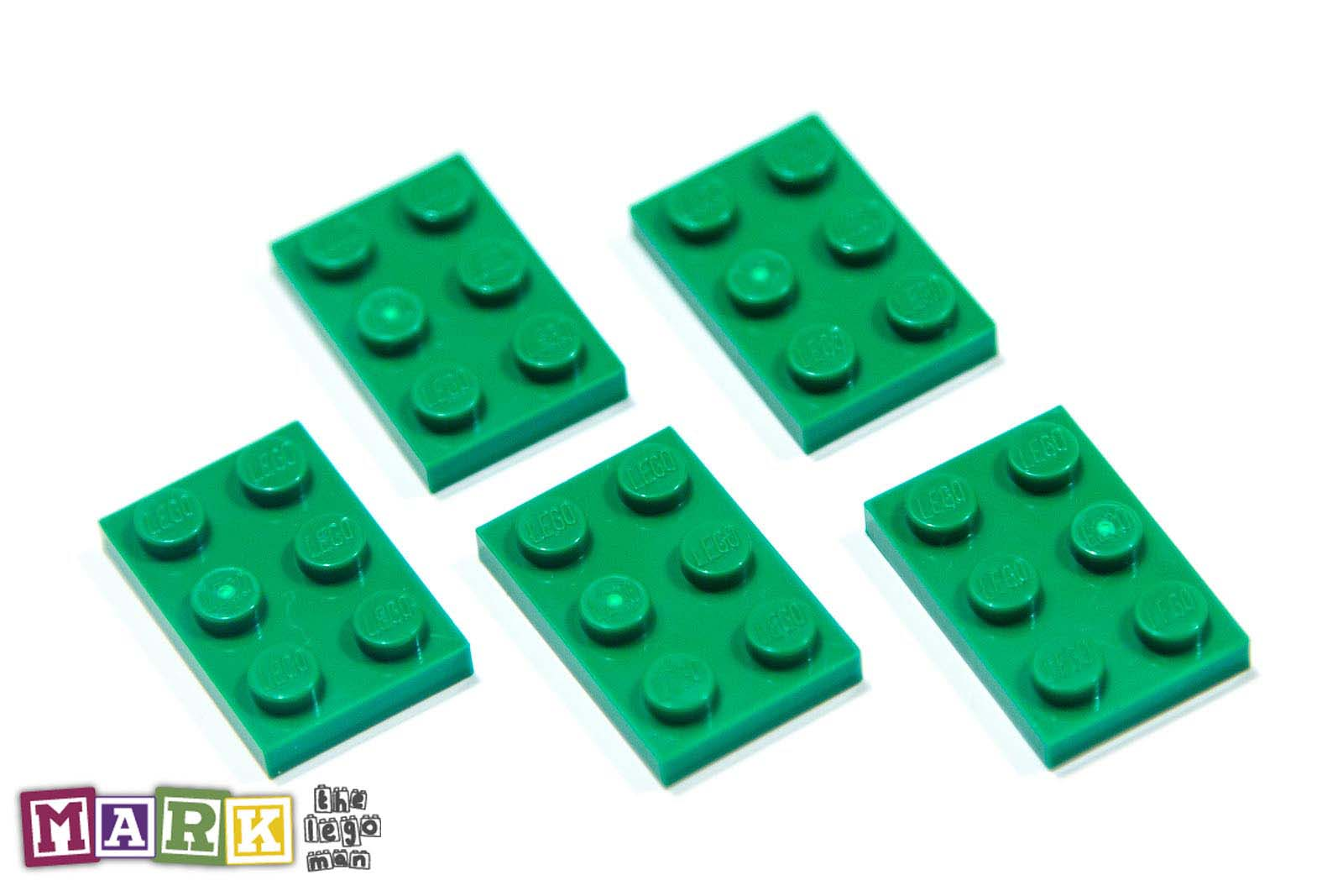 NEW Lego 302128 3021 5x Green 2x3 Plate