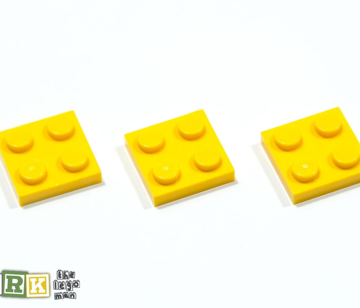 NEW Lego 302224 3022 3x Bright Yellow 2x2 Plate