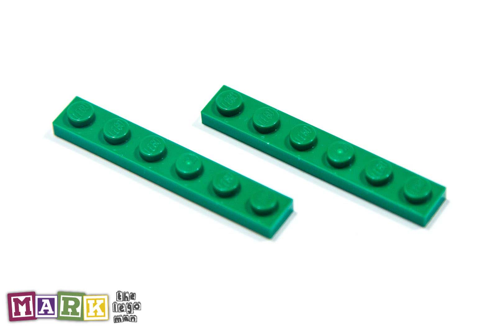 NEW Lego 366628 3666 2x Green 1x6 Plate