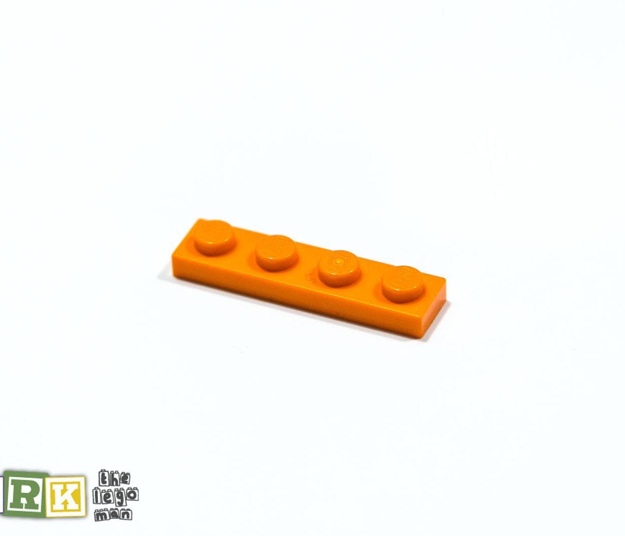 NEW Lego 4118782 3710 1x Bright Orange 1x4 Plate