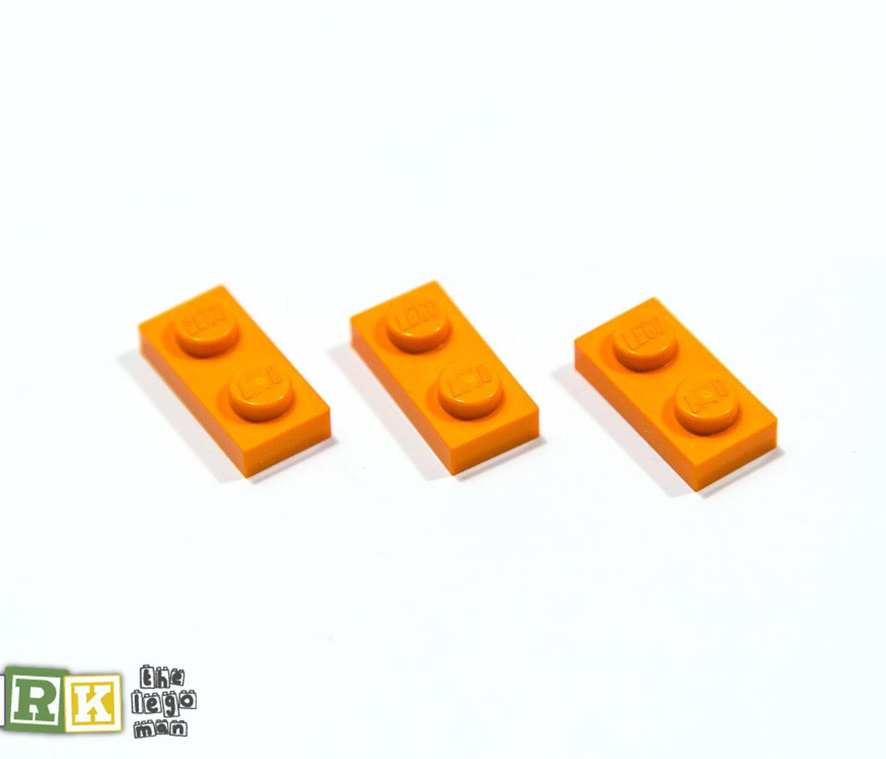 NEW Lego 4177932 3023 3x Bright Orange 1x2 Plate