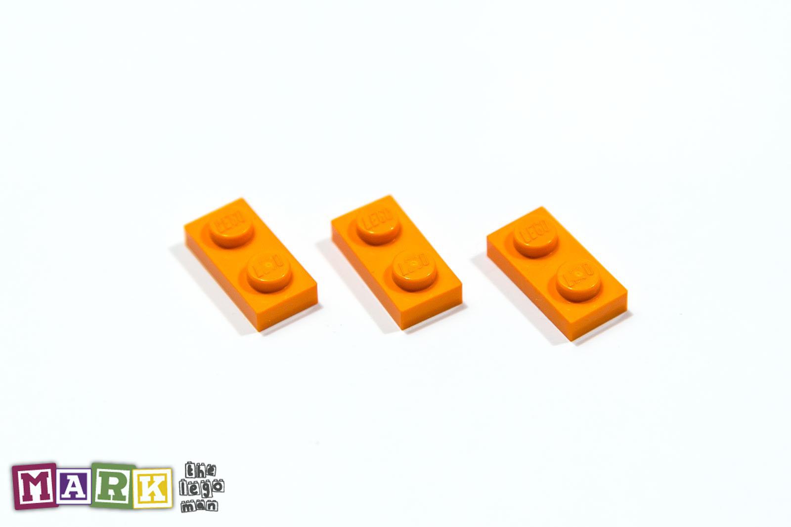 NEW Lego 4177932 3023 3x Bright Orange 1x2 Plate