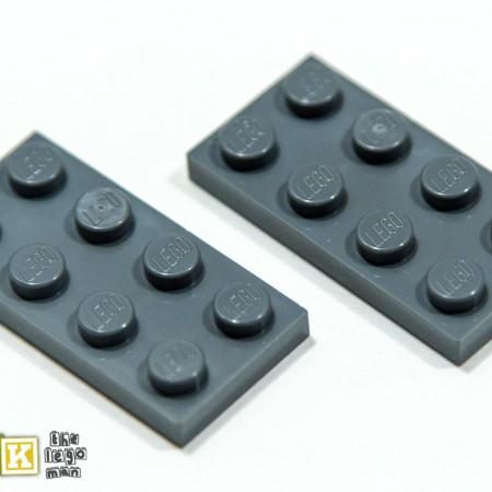 Lego 4211065 3020 2x Dark Blueish Grey Dark Stone Dark Standard Grey 2x4 Plate