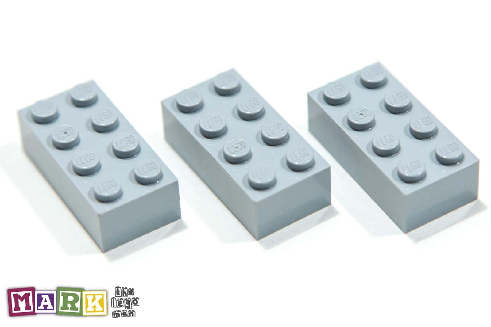 Parts /& Pieces size 2x4 2 x Lego Grey Brick - 4211385