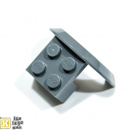 Lego 4260124 50745 1x Dark Blueish Grey Dark Stone Dark Standard Grey 2x4x1 Brick with screen Wheel Arch