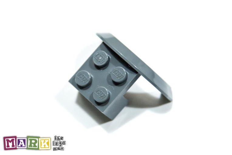 Lego 4260124 50745 1x Dark Blueish Grey Dark Stone Dark Standard Grey 2x4x1 Brick with screen Wheel Arch