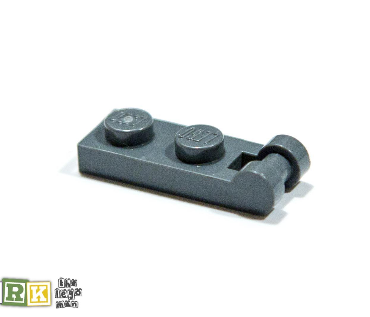Lego 4521187 60478 1x Dark Blueish Grey Dark Stone Dark Standard Grey 1x2 3.2 Plate With Shaft