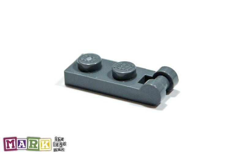 Lego 4521187 60478 1x Dark Blueish Grey Dark Stone Dark Standard Grey 1x2 3.2 Plate With Shaft