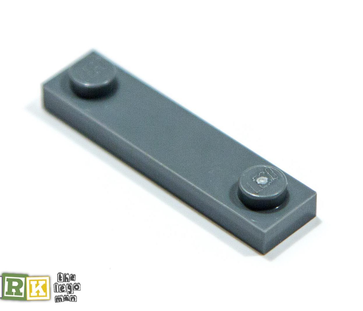 Lego 4598769 92593 1x Dark Blueish Grey Dark Stone Dark Standard Grey 1x4 Plate with 2 knobs studs