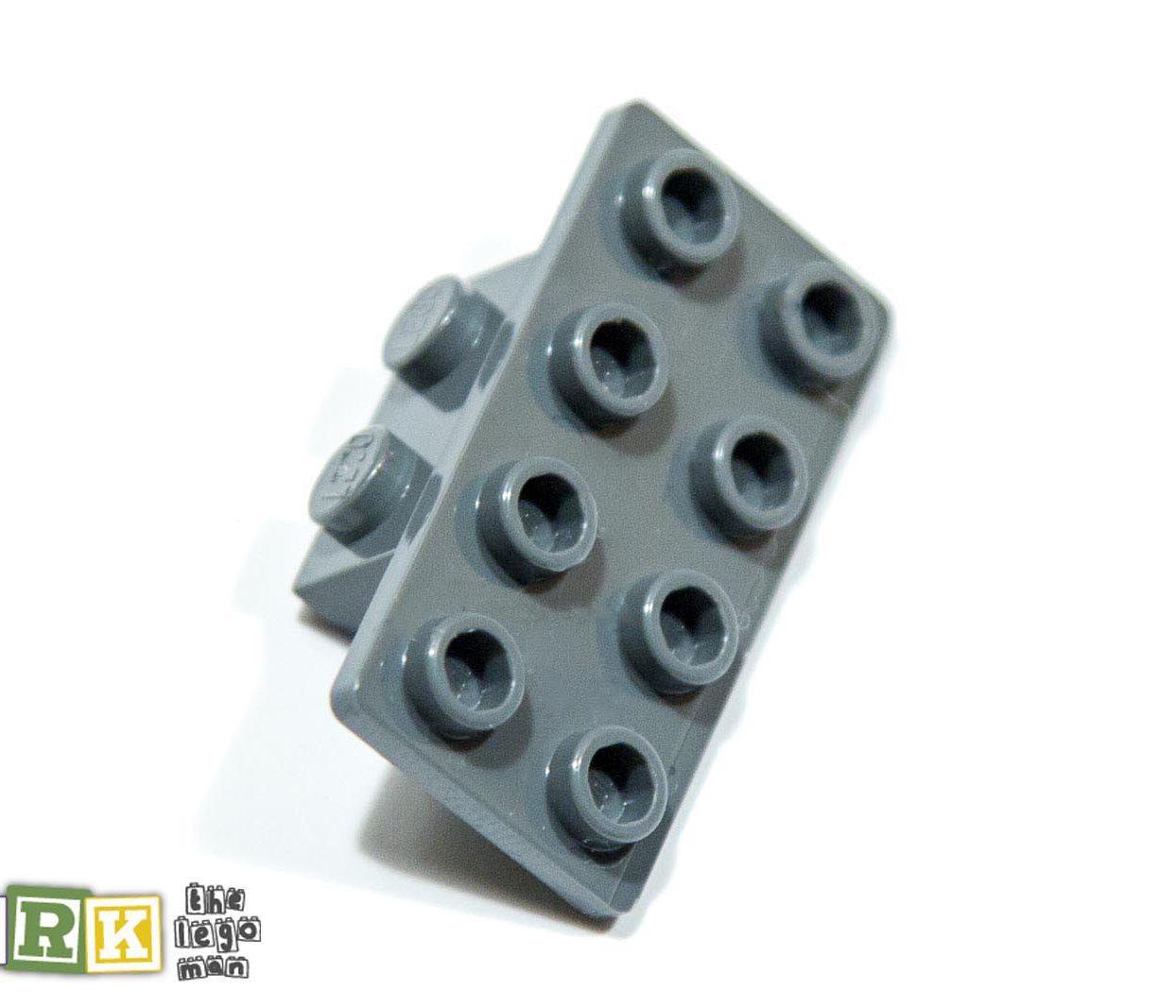 Lego 4648067 93274 1x Dark Blueish Grey Dark Stone Dark Standard Grey 1x2 2x4 Angle Plate