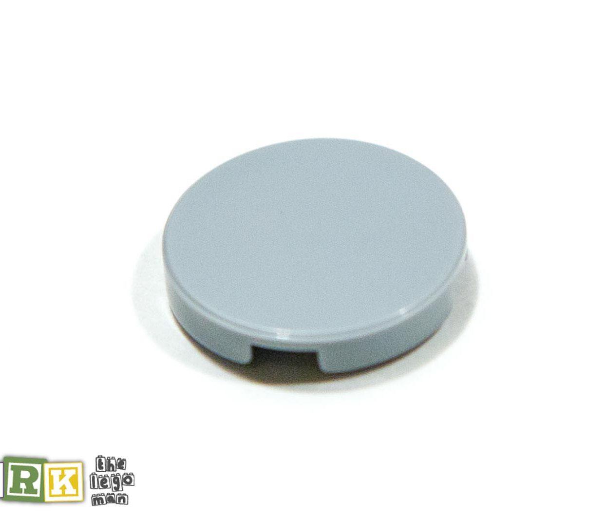 Lego 6052200 14769 1x Light Blueish Grey Md Stone Medium Standard Grey 2x2 Round Flat Tile