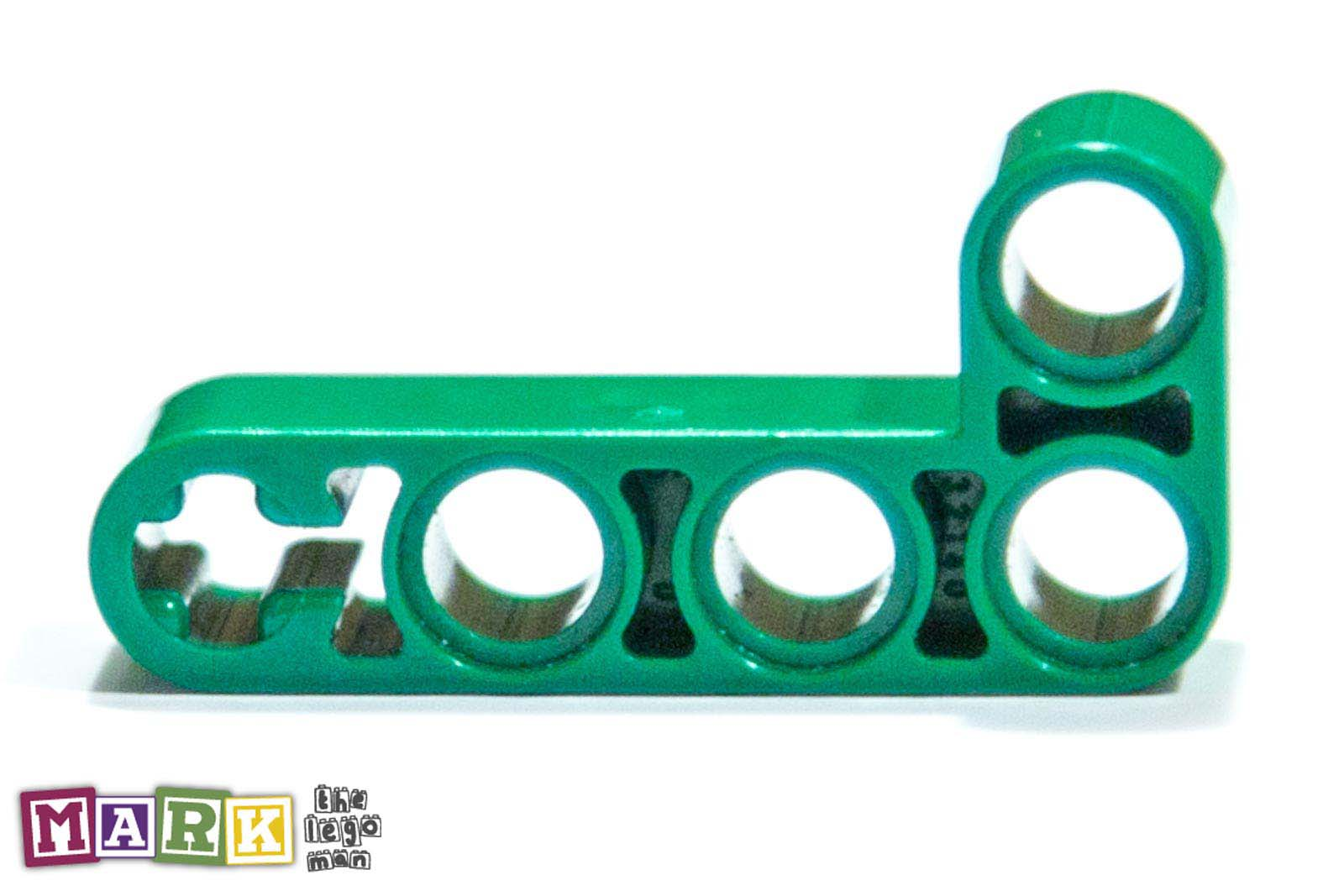 Lego 4124031 32140 1x Green 4x2 90 Degree Technic Angled Beam